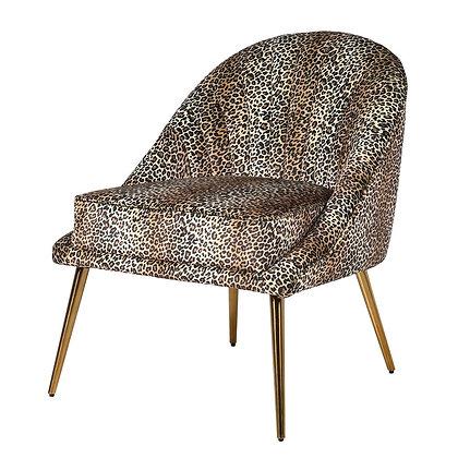 Leopard print velvet chair