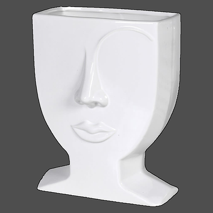 White female Eyebrow Ceramic Vase