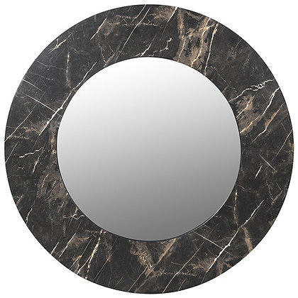 Faux Black Marble Mirror