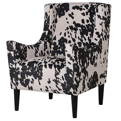 Faux Cow Hide Armchair