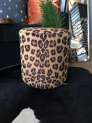 Animal print fabric round strool