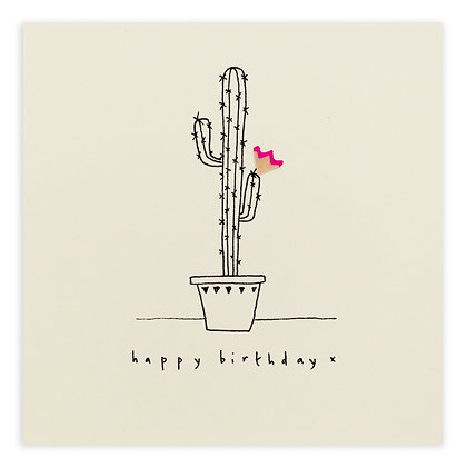 Birthday Cactus Pencil Shavings Card