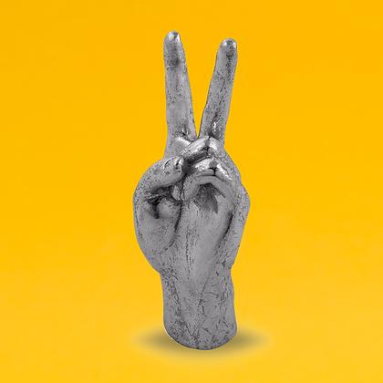 Silver Peace Hand Figure