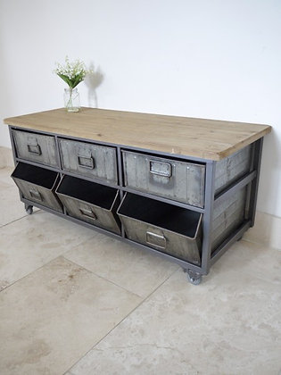 Industrial style side board/coffee table