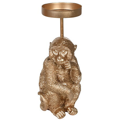 Puzzled Monkey Candle Holder