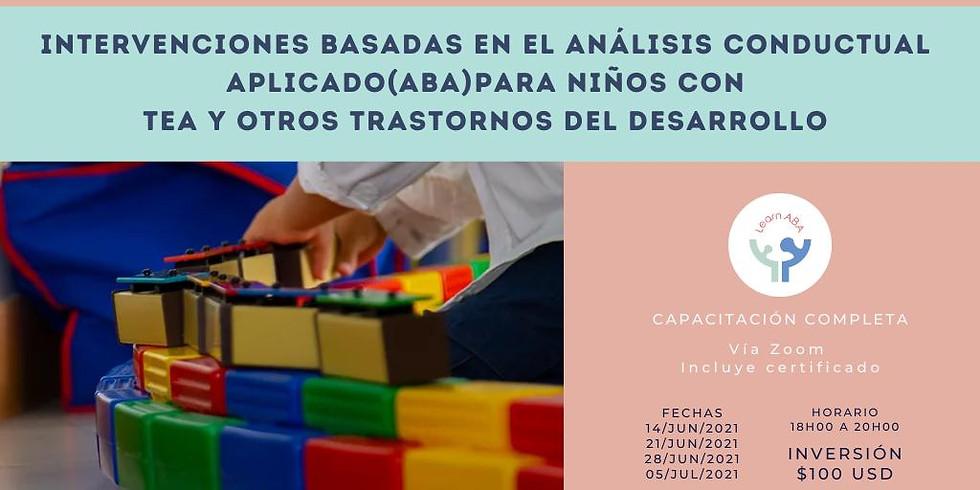 Intervenciones basadas en el análisis conductual aplicado (ABA) para niños con tea y otros trastornos del desarrollo