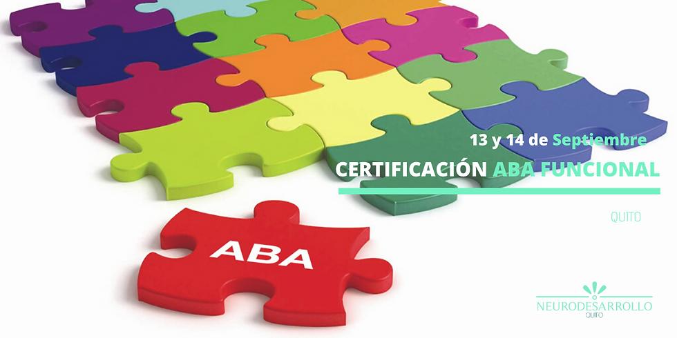 Certificación oficial ABA funcional   Quito 2020