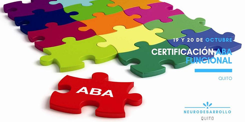 Cerfiicación oficial ABA funcional | Quito
