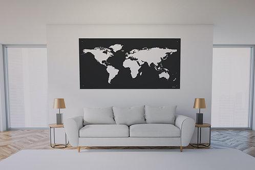 Carte du monde murale 200X100 CM