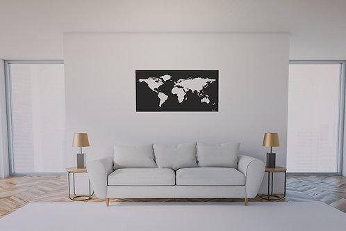 Carte du monde murale 120X60 CM