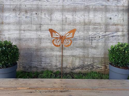 Papillon ajouré en acier corten 22 x 14 cm