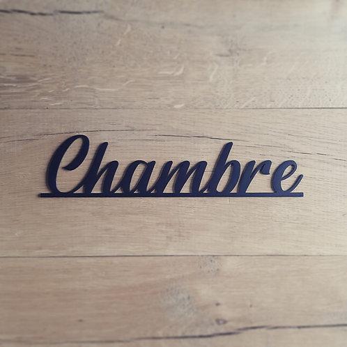 """Plaquette """"Chambre"""""""