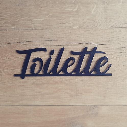 """Plaquette """" Toilette"""""""