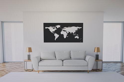 Carte du monde murale 160X80 CM