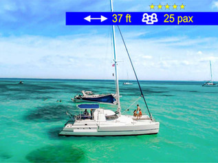 Catamaran for Private Tours                      37 ft  /  25 pax