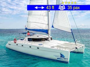 Catamaran Group Tours II Cancun              43 ft  /  35 pax