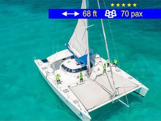 Catamaran Tours Gran Grupo Cancun             68 ft  /  70 pax