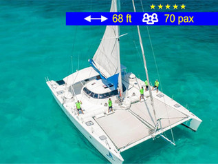 Catamaran Tours Gran Grupo Cancun             68 ft  /  70 pax