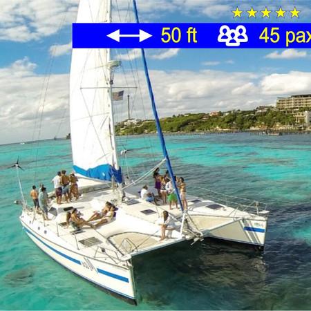 Catamaran Tours Group Max Cancun               50 ft  /  45 pax