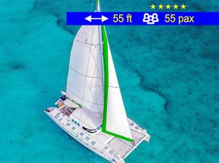 Catamaran Tours Groups Cancun               55 ft  /  55 pax