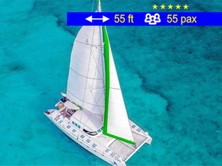Catamaran Tours Groups Cancun               55 ft  /  55 pax