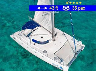 Catamaran Group Tours Cancun               43 ft  /  35 pax