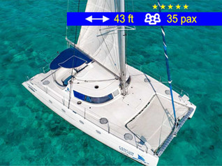 Catamaran Group Tours Cancun               43 ft  /  35 pax