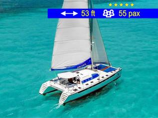 Cancun Tourism Catamaran                      53 ft  /  55 pax