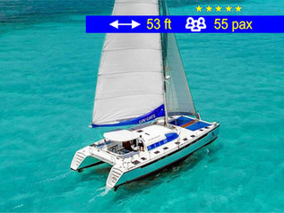 Cancun Tourism Catamaran                      53 ft  /  55 pax