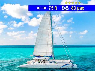 Catamaran Tours Large Group                  75 ft  /  80 pax