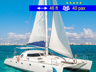 Catamaran Tours Manta Cancun               46 ft  /  40 pax