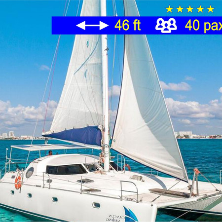 Catamaran Tours Manta Cancun               46 ft  /  40 pax