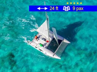 Small Family Catamaran Cancun               24 ft  /  9 pax