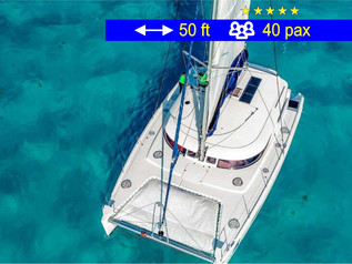 Catamaran Tours Deluxe Cancun               50 ft  /  40 pax
