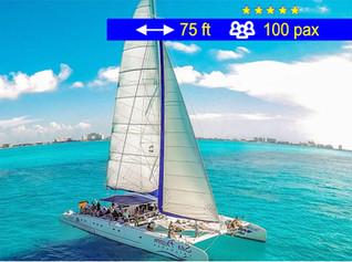 Catamaran Mega Tours  Cancún               75 ft  /  100 pax