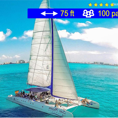 Catamaran Mega Tours  Cancún               75 ft  /  100 pax