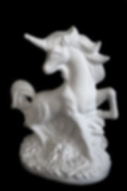 Mystical unicorn ceramic bisque