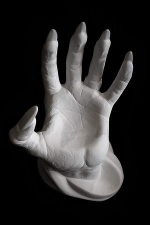 Spooky Scary Hand! bisque