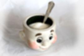 Sugar Bowl + sugar & spoon