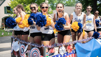 Lake Forest Dance Team at the Lake Bluff 4th of July Parade 2021