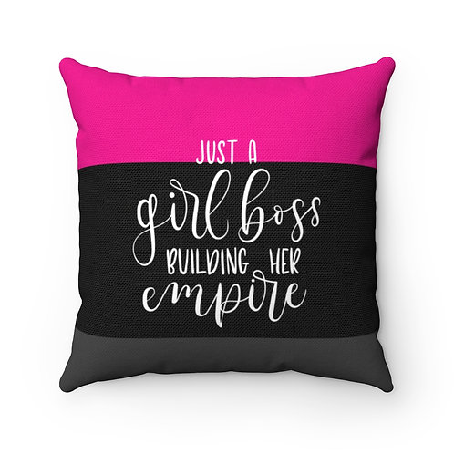 Business Woman's Spun Polyester Square Pillow