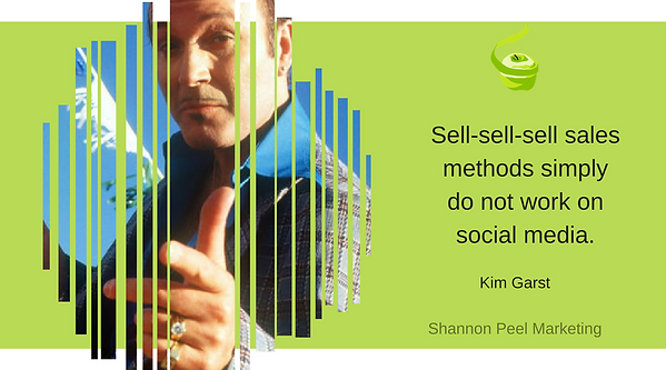 Social Media Marketing Quote Kim Garst Social selling tip