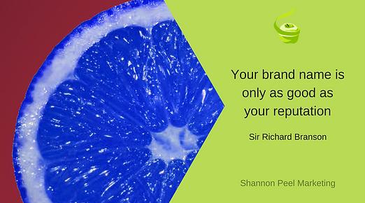 Marketing quote Sir Richard Branson Reputation tip