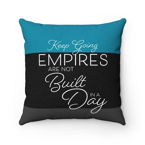 Motivational Spun Polyester Square Pillow