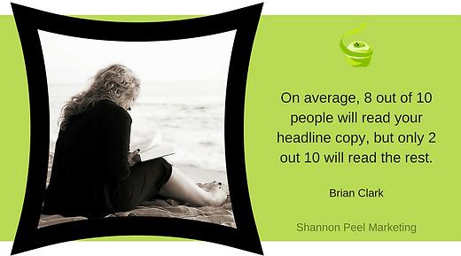 Marketing quote Brian Clark Headlines tip