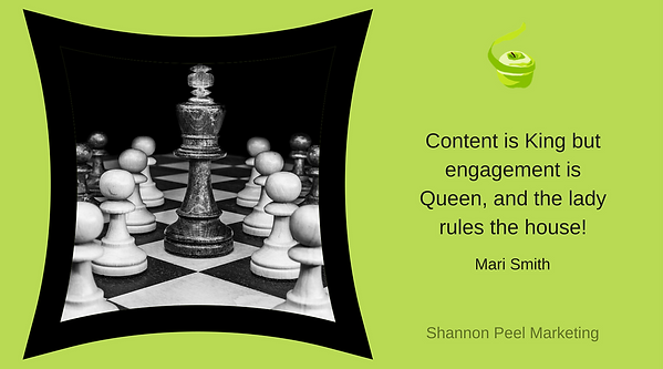 Marketing Quote Content is King Mari Smith
