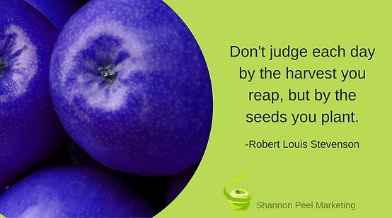 Marketing quote Robert Louis Stevenson goals tip