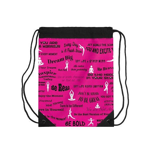 Yoga Inspired Drawstring Bag
