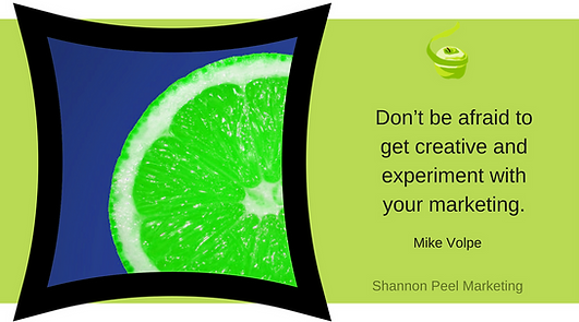 Marketing Quote Mike Volpe graphic Social Media creativity