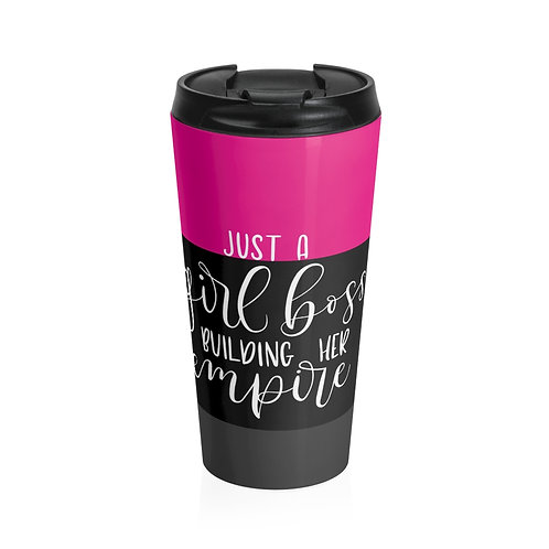 Business Woman's Stainless Steel Travel Mug